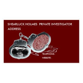 Detective privado tarjetas de visita