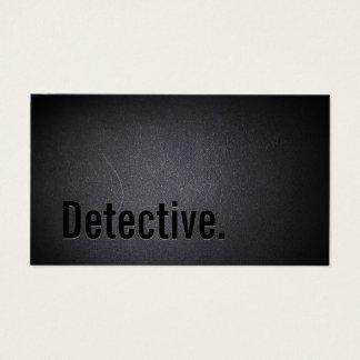 Detective Professional Black Bold Minimal Business Card
