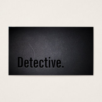 Detective Professional Black Bold Minimal Business Card