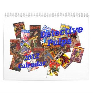 Detective Pulps 2012 Calendar