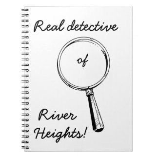 Detective real de las alturas del río!: Lindo para Libros De Apuntes Con Espiral