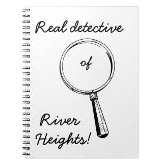 Detective real de las alturas del río!: Lindo para Libretas Espirales