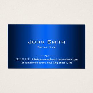 Detective Royal Blue Metal Business Card