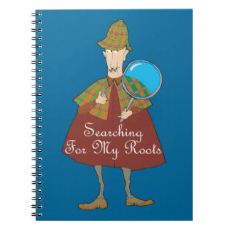 Detective Searching For My Roots Spiral Notebook