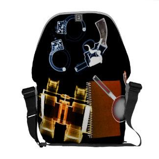 Detective secreto - la bolsa de mensajero del bolsa de mensajería