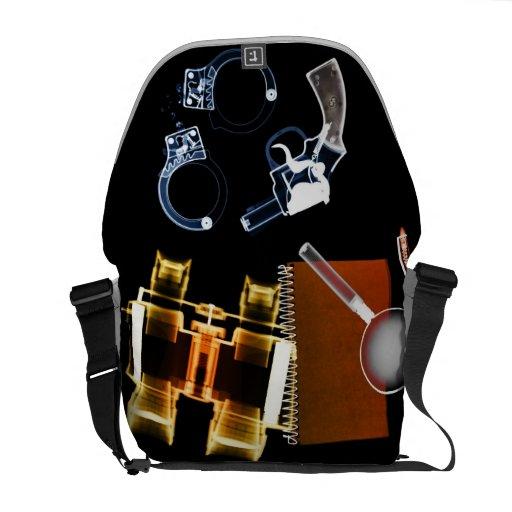 Detective secreto - la bolsa de mensajero del carr bolsas de mensajería