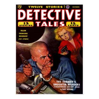Detective Stories - The Farmer's Daughter Murder Postcard
