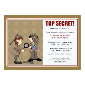Detective Surprise Party Invitation
