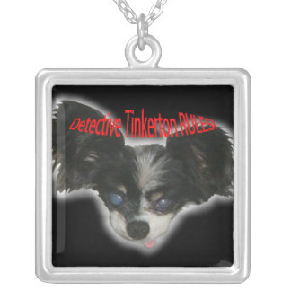 Detective Tinkerton RULES! Square Pendant Necklace