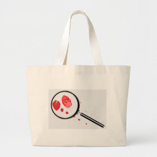 Detectives Magnifying Glass Large Tote Bag
