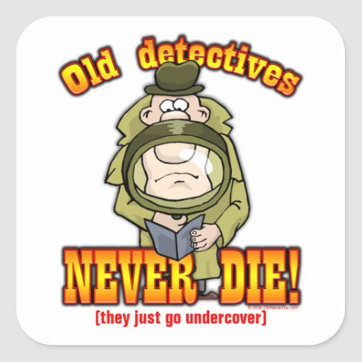 Detectives Pegatinas Cuadradas