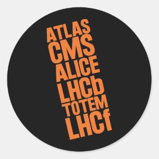 Detectores de LHC Pegatina Redonda