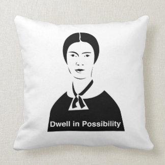 Detención de Emily Dickinson en almohada de la pos