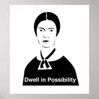 Detención de Emily Dickinson en posibilidad Impresiones