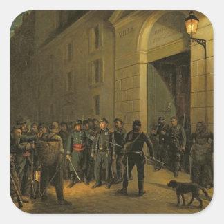 Detención de los generales pegatina cuadrada