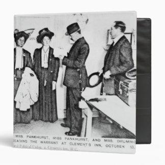 """Detención de señora Pankhurst Carpeta 1 1/2"""""""