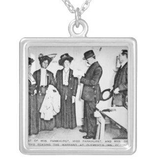 Detención de señora Pankhurst Colgante Cuadrado