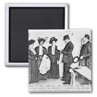 Detención de señora Pankhurst Imán Cuadrado