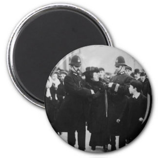 Detención de un Suffragette en Londres Inglaterra Imán Redondo 5 Cm