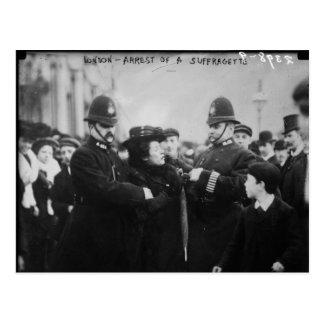 Detención de un Suffragette en Londres Inglaterra Postales