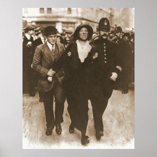 Detención de un Suffragette Póster