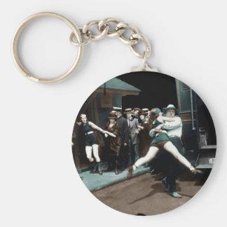 detenciones del bañador de los años 20 llavero