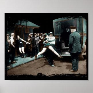 detenciones del bañador de los años 20 póster