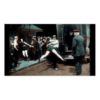 detenciones del bañador de los años 20 tarjetas de visita