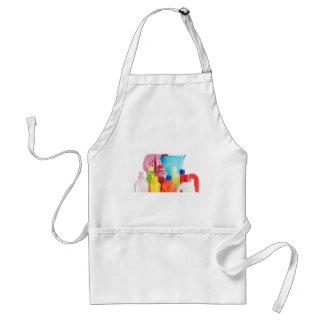 detergent bottles and bucket adult apron