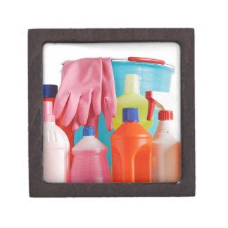 detergent bottles and bucket jewelry box