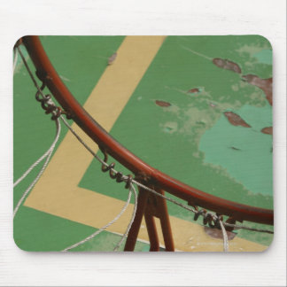 Deteriorating basketball hoop mouse pad