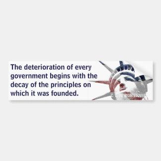 Deterioro del gobierno (Montesquieu) Pegatina Para Auto