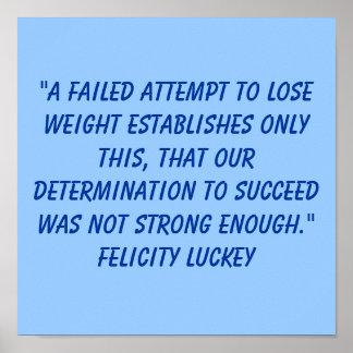 Determinación 2 de la pérdida de peso póster