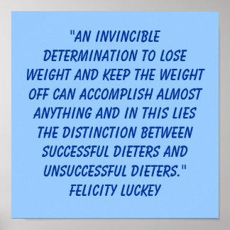 Determinación 4 de la pérdida de peso póster