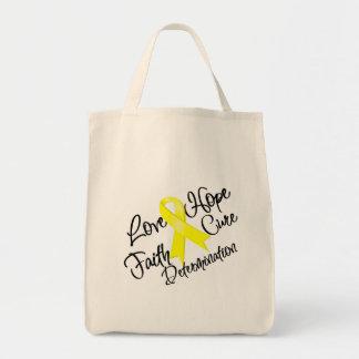 Determinación de la esperanza del amor de la endom bolsa tela para la compra