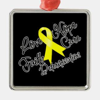 Determinación de la esperanza del amor del cáncer  adorno de navidad