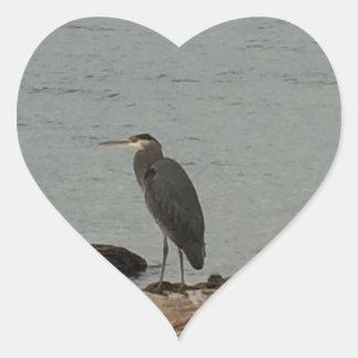 Determinación de los Egrets Pegatina En Forma De Corazón