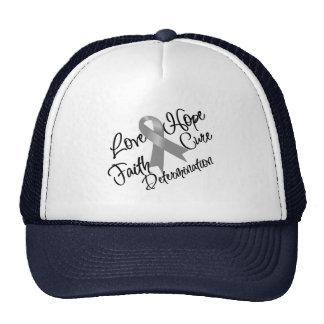 Determinación gris de la esperanza del amor de la  gorras
