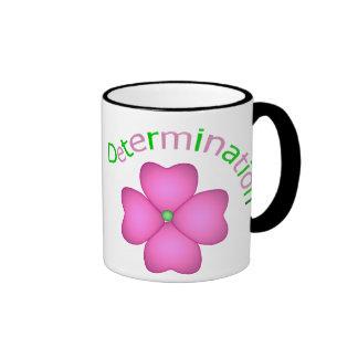 Determinación inspirada de la flor taza de dos colores