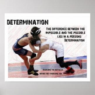 Determinación - luchando póster