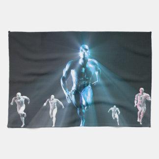 Determinación o el llevar resuelto del líder toallas