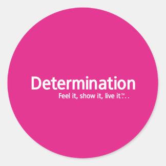 Determinación - pensamiento Shapers™ Pegatina Redonda