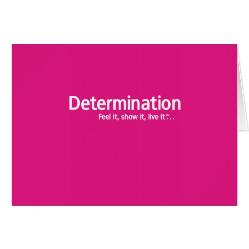 Determinación - pensamiento Shapers™ Tarjeta De Felicitación