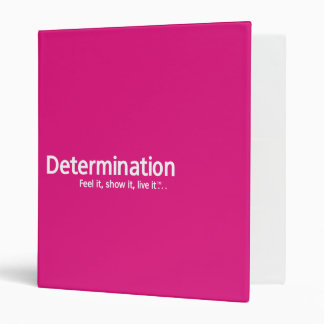Determinación - siéntala, la muestran, carpeta