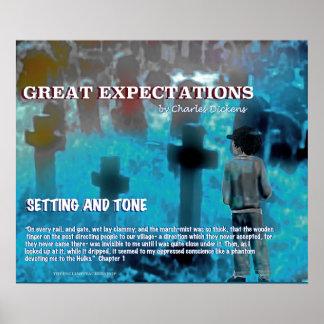 Determinación y tono de las granes expectaciones póster