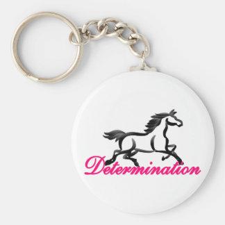 Determination Basic Round Button Keychain