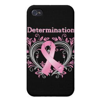 Determination Breast Cancer Awareness Ribbon iPhone 4 Case