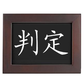 """Determination"" design jewelry Keepsake Box"