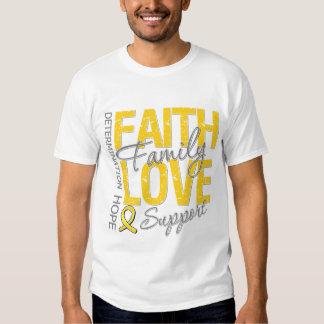 Determination Faith Family Collage COPD T-Shirt