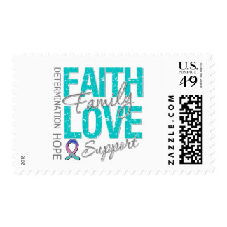Determination Faith Family Collage Thyroid Cancer Postage Stamp
